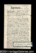 Autographs, William H. Vanderbilt Signed Property Contract