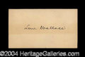 Autographs, Lew Wallace Civil War Ink Signature