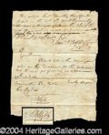Autographs, Samuel B. Webb Signed Document (Revolutionary War)