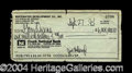 Autographs, Whitewater Scandal Rare Signed $6-Million Dollar Check!