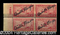 Autographs, Orville Wright Amazing 4x Signed Stamp Block