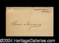 Autographs, Grover Cleveland Signed Executive Mansion Card