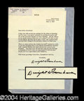 Autographs, Dwight Eisenhower Rare Signed Letter to Joan Crawford
