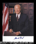 Autographs, Gerald R. Ford Signed 8 x 10 Photo
