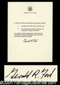Autographs, Gerald R. Ford Signed Warren Commission Letter