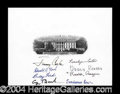 Autographs, Four Presidents & First Ladies Signed Engraving