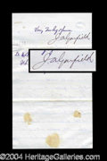 Autographs, James A. Garfield Nice Letter Signed