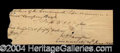 Autographs, William Henry Harrison Rare Handwritten Signed Check