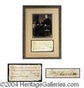 Autographs, William Henry Harrison Rare Handwritten Signed Document