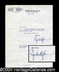 Autographs, Lyndon B. Johnson Typed Letter Signed