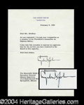 Autographs, Lyndon B. Johnson Signed Letter as President
