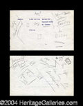 Autographs, John F. Kennedy Handwritten Note Page