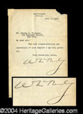Autographs, William McKinley Typed Letter Signed