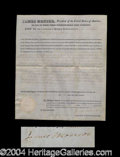 Autographs, James Monroe Signed Land Grant