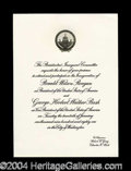 Autographs, Ronald Reagan Official Inauguration Invitation