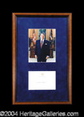 Autographs, Ronald Reagan Signed Matted Display