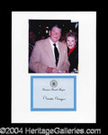 Autographs, Ronald Reagan Signed Presidential Note