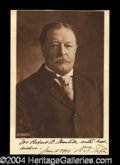 Autographs, William H. Taft Harris & Ewing Photo Signed as President