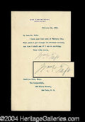 Autographs, William H. Taft Typed Letter Signed