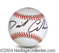 Autographs, David Carradine In-Person Signed Baseball
