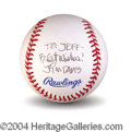 Autographs, Jim Davis Garfield Signed Baseball
