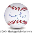 Autographs, Monty Hall In-Person Signed Baseball