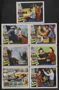 "Movie Posters:Adventure, Mystery Submarine (Universal, 1950). Title Lobby Card and LobbyCards (6) (11"" X 14""). Adventure.... (Total: 7 Items)"