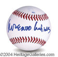 Autographs, Lorenzo Lamas In-Person Signed Baseball