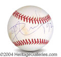 Autographs, Dolph Lundgren In-Person Signed Baseball