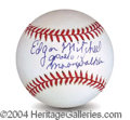 Autographs, Edgar Mitchell In-Person Signed Baseball