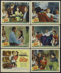 """Movie Posters:Action, The Fighting O'Flynn (Universal International, 1949). Title Lobby Card and Lobby Cards (5) (11"""" X 14""""). Action.... (Total: 6 Items)"""