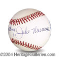 Autographs, Julie Newmar Uniquely Signed Baseball
