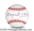 Autographs, Margaret O' Brien In-Person Signed Baseball