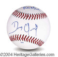 Autographs, Dennis Quaid Signed Baseball