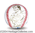 Autographs, Paul Ryan Signed Baseball w/Superman Sketch