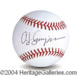 Autographs, O.J. Simpson Signed Baseball