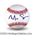 Autographs, Mira Sorvino In-Person Signed Baseball