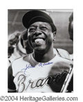 Autographs, Hank Aaron Signed Photo 715th HR