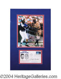 Autographs, Hank Aaron Signed Matted Display