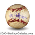 Autographs, George Brett Signed Game Used 3000th Hit Baseball