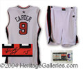 Autographs, Vince Carter Signed Official Game Issued Olympic Jersey &Shorts