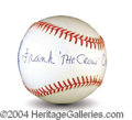 Autographs, Frank Crosetti Signed Baseball PSA/DNA