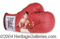 Autographs, Oscar De La Hoya Unique Signed Glove Art