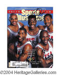Autographs, Rare 1992 Dream Team Basketball Signed Sports Illustrated w/Jordan! PSA/DNA