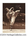 Autographs, Bob Feller Signed 11 x 14 Photograph