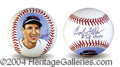 Autographs, Bob Feller Signed Baseball w/ Artwork