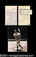 Autographs, Jimmie Foxx Incredible Handwritten Letter w/ Dimaggio Reference