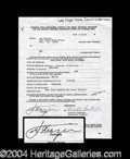 Autographs, Joe Frazier Uncommon Signed Document
