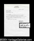 Autographs, Otto Graham Typed Letter Signed