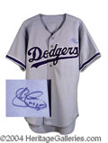 Autographs, Shawn Green Signed Dodgers Jersey